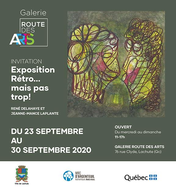 Exposition Artistique Lachute Jeanne mance Laplante et Rene Delahaye